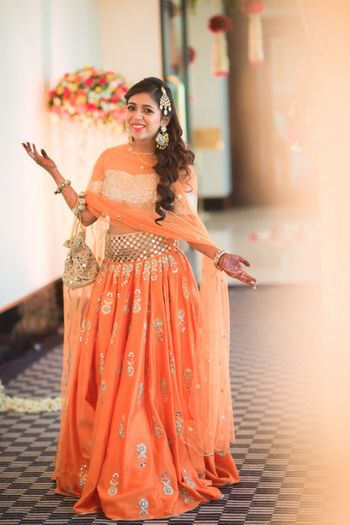 Payal Singhal lehenga in peach
