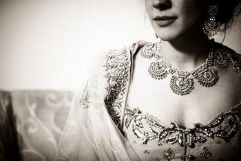 kundan necklace pankha design