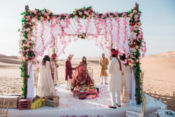 unique desert mandap