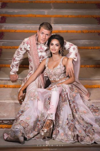 Photo of Sangeet lehenga with pants