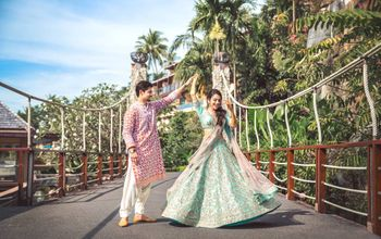 Turquoise Wedding Photoshoot & Poses Photo