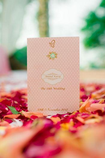 Photo of Elegant Shell pink wedding card