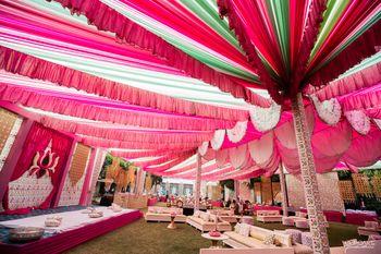 Draped ceiling decor