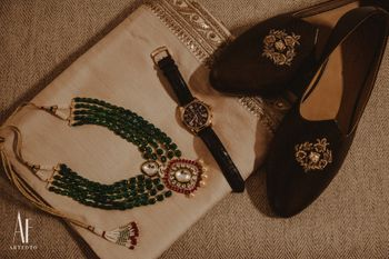 Photo of Groomwear accessories with sabyasachi shoes