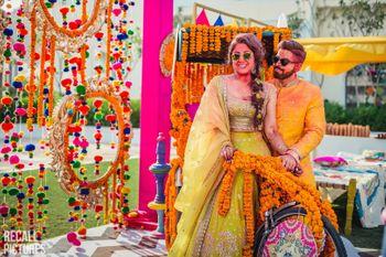 Mehendi holi party couple shot