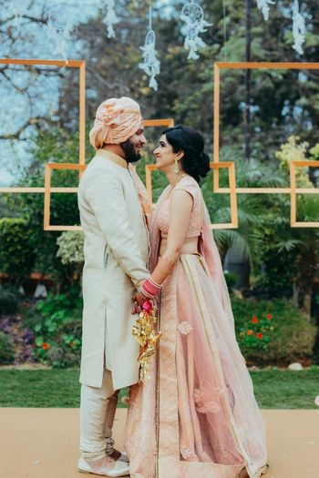 Wedding Photoshoot & Poses Photo Peach wedding lehenga