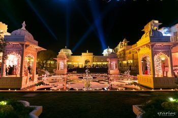 Wedding decor at Oberoi Udaivilas