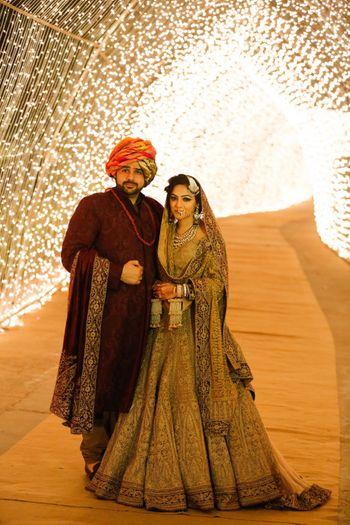 Gold Bridal Lehenga Photo