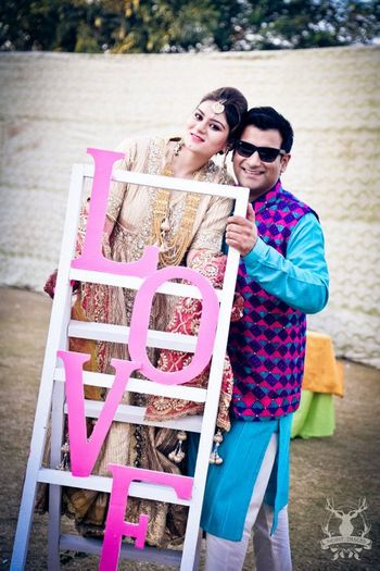 Photo of LOVE stand prop for photobooth