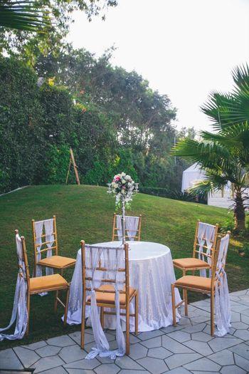 Elegant white decor for morning wedding