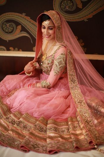 Photo of baby pink anarkali