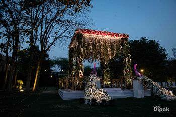 Photo of Floral mandap for a night wedding