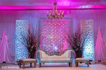 Engagement stage backdrop decor