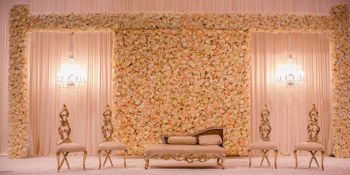 White flower wall stage backdrop