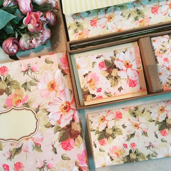 Photo of floral print boxes