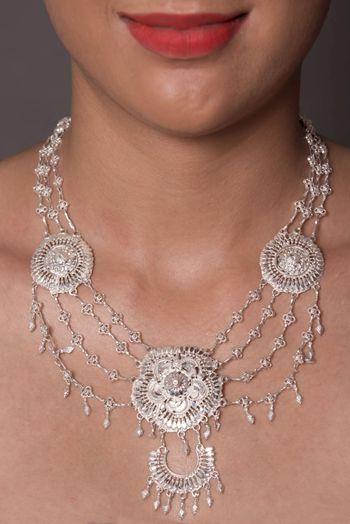 Silver tribal jewellery for mehendi