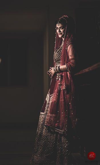 Photo of Shadow bridal portrait