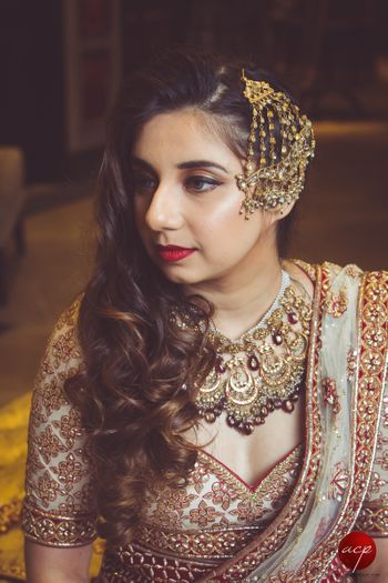Bridal necklace and matching jhoomer