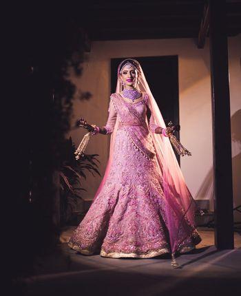Stunning pink lehenga for bridal