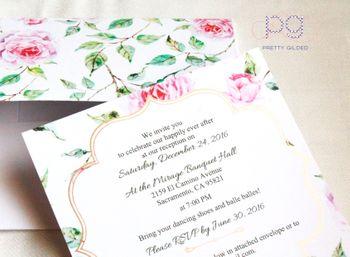 Floral print wedding card