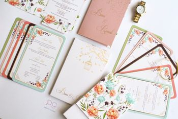 Photo of floral vintage summer invites