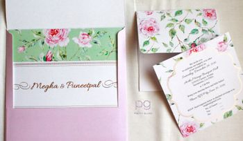Photo of floral wedding invite