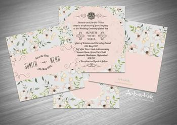 Floral wedding invite!