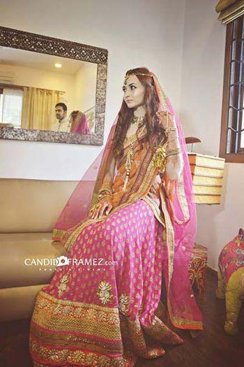 Light Pink Bridal Lehenga Photo