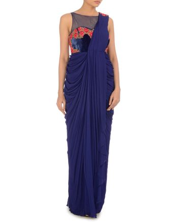draped saris