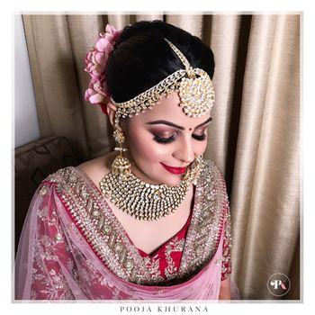 Soft and subtle wedding makeup