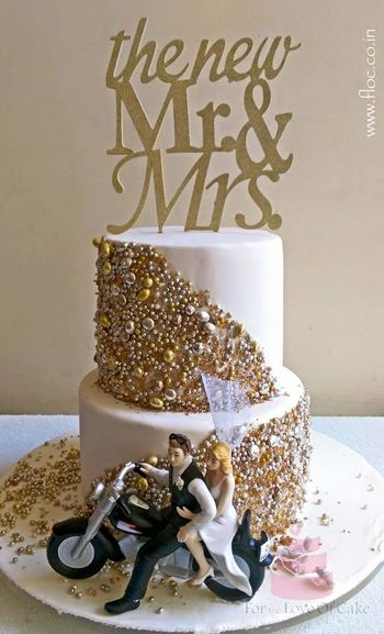 Photo of glitter cakes with personalised cake topper