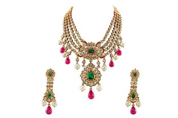 polki necklace and earring set