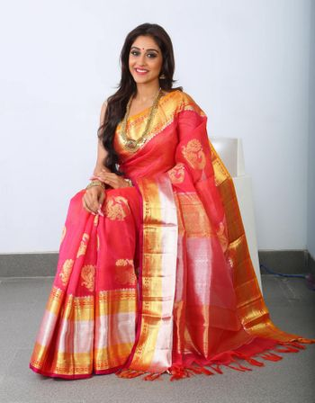 Photo of red kanjivaram saree