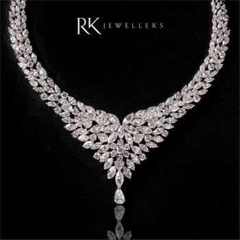 Photo of diamond bridal necklace