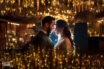Romantic couple shot on sangeet