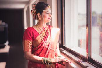A Maharashtrian bride on her wedding day