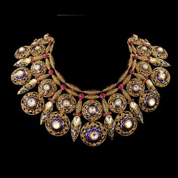 Polki kundan bridal necklace set