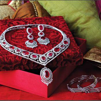 Wedding Jewellery Photo diamond and ruby necklace
