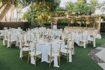 White table and chair setting decor.