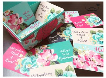 Will you be my bridesmaid floral card