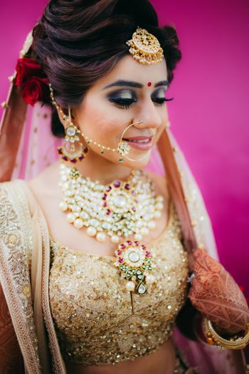 Photo of Bride in gold