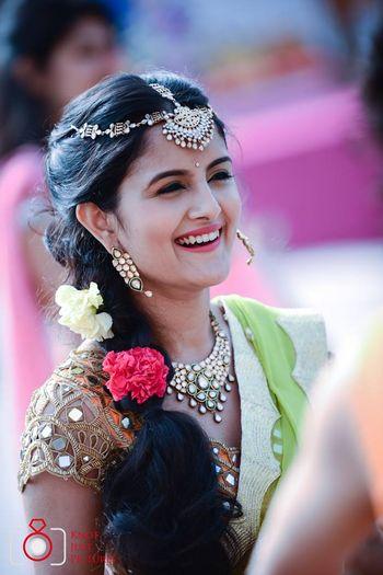 Wedding Jewellery Photo mehendi hairstyle