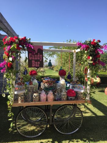 Candy bar at wedding