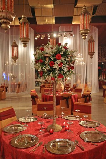 Tall floral table centerpiece