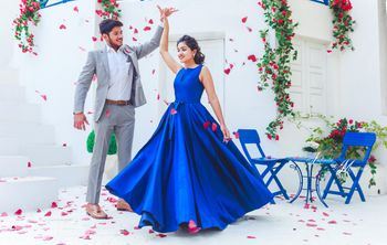 Pre wedding photoshoot with blue theme