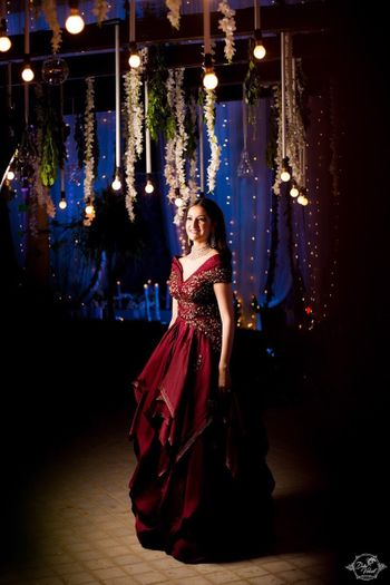 Sangeet bridal look and decor idea
