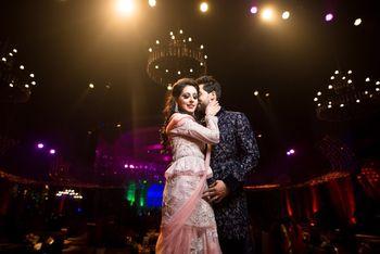 Sangeet couple portrait romantic