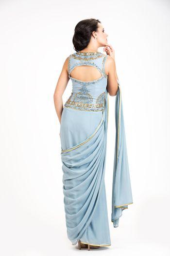 Photo of gown saree concept saree