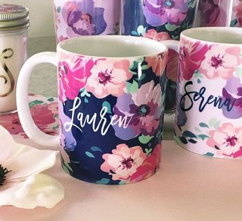 Personalised gifts with names on cups