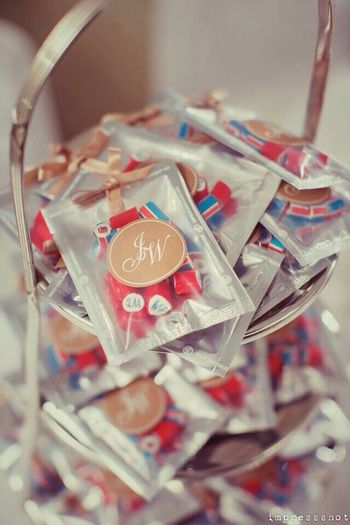 candy with personalised monograms